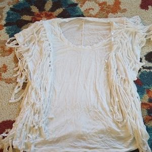 Chelsea and violet fringed shirt